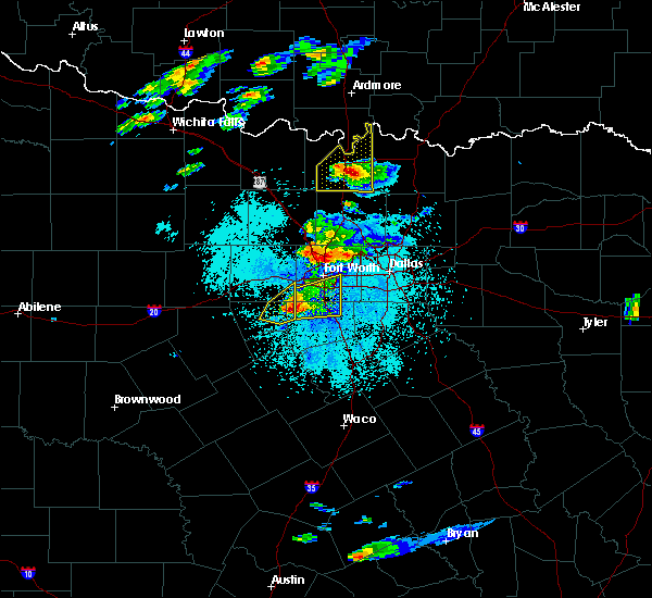 Radar Image for Severe Thunderstorms near Callisburg, TX at 10/20/2019 8:08 PM CDT