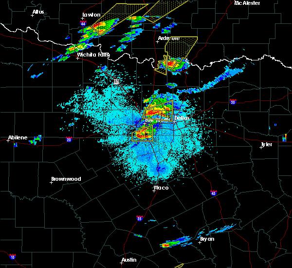 Radar Image for Severe Thunderstorms near Callisburg, TX at 10/20/2019 8:28 PM CDT