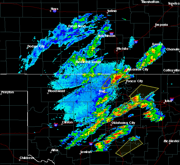 Radar Image for Severe Thunderstorms near Newkirk, OK at 10/20/2019 8:30 PM CDT