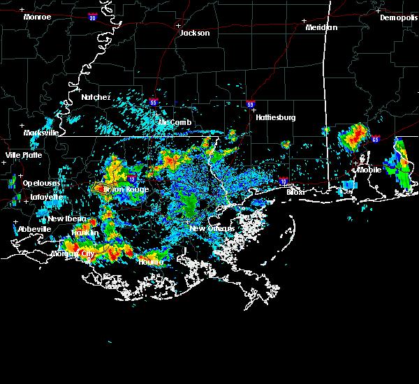 Radar Image for Severe Thunderstorms near Baton Rouge, LA at 6/23/2015 4:49 PM CDT