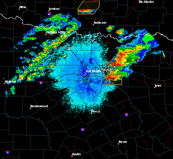 Radar Image for Severe Thunderstorms near Richardson, TX at 10/20/2019 9:56 PM CDT