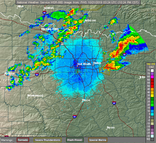 Radar Image for Severe Thunderstorms near Greenville, TX at 10/20/2019 10:30 PM CDT