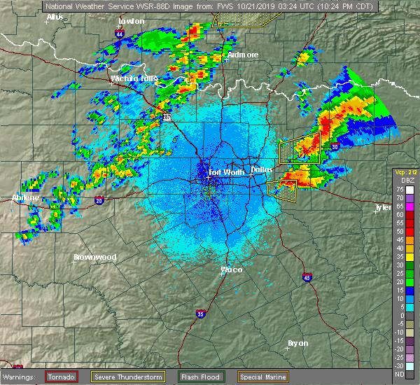 Radar Image for Severe Thunderstorms near Neylandville, TX at 10/20/2019 10:30 PM CDT