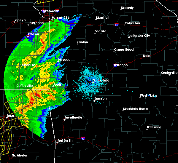 Radar Image for Severe Thunderstorms near Fairview, MO at 10/20/2019 10:59 PM CDT