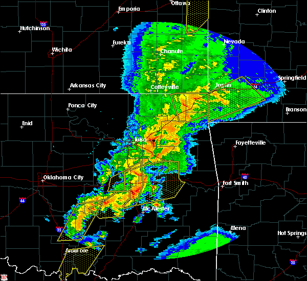 Radar Image for Severe Thunderstorms near Checotah, OK at 10/20/2019 11:13 PM CDT