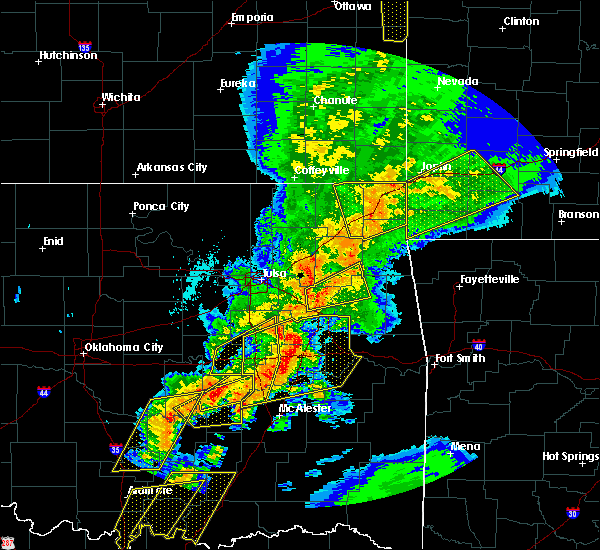 Radar Image for Severe Thunderstorms near Rose, OK at 10/20/2019 11:17 PM CDT