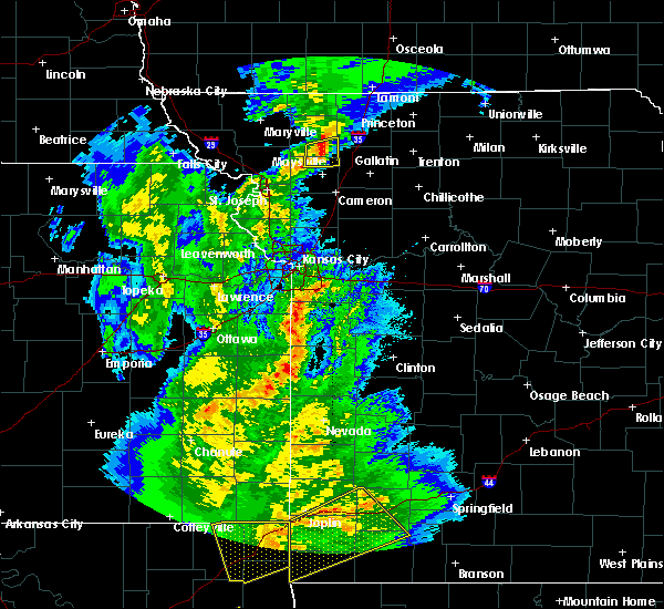 Radar Image for Severe Thunderstorms near McFall, MO at 10/20/2019 11:23 PM CDT