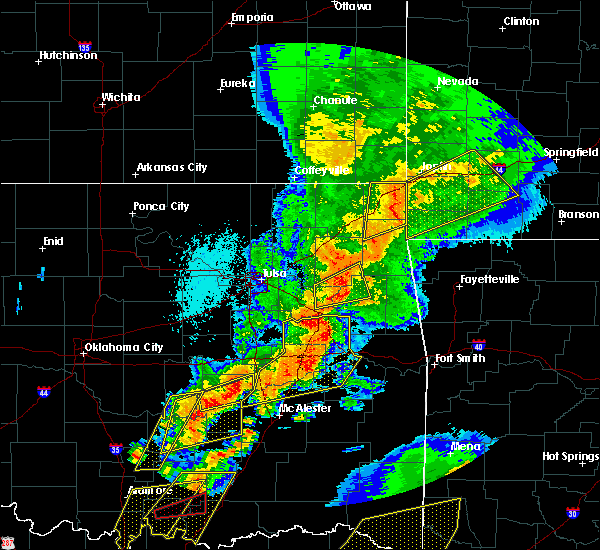 Radar Image for Severe Thunderstorms near Long, OK at 10/20/2019 11:32 PM CDT