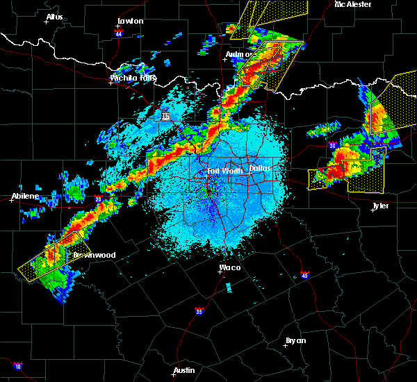 Radar Image for Severe Thunderstorms near Emory, TX at 10/20/2019 11:35 PM CDT
