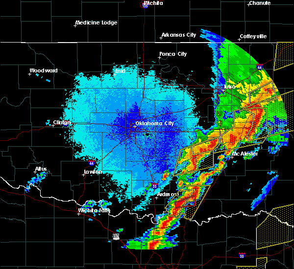 Radar Image for Severe Thunderstorms near Allen, OK at 10/20/2019 11:38 PM CDT