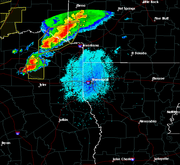 Radar Image for Severe Thunderstorms near De Queen, AR at 10/20/2019 11:48 PM CDT