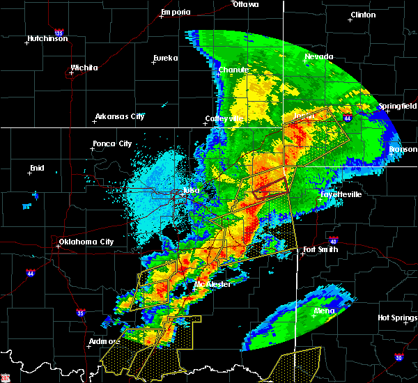 Radar Image for Severe Thunderstorms near Short, OK at 10/20/2019 11:54 PM CDT