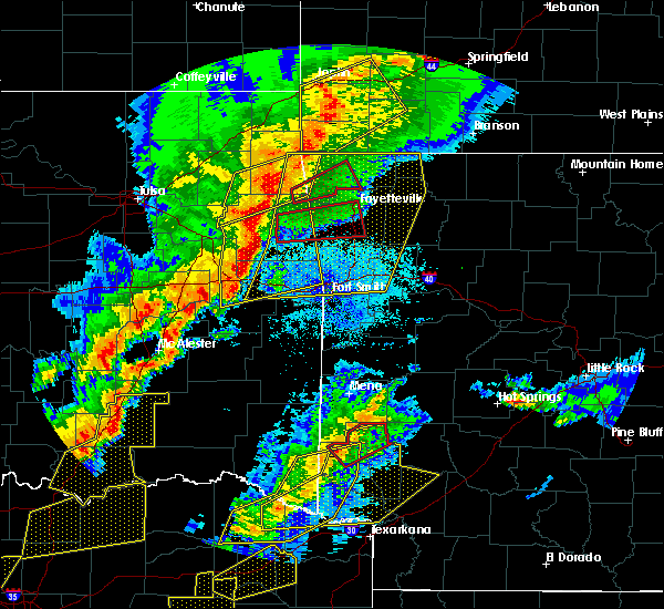 Radar Image for Severe Thunderstorms near Bethel Heights, AR at 10/21/2019 12:07 AM CDT