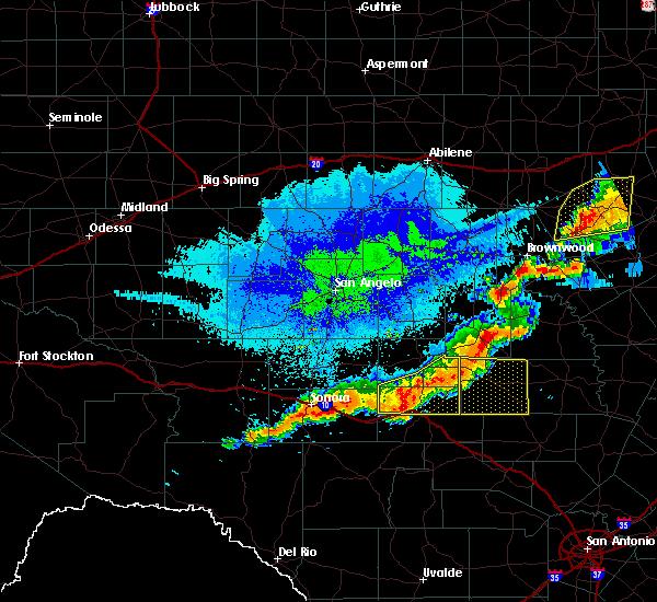Radar Image for Severe Thunderstorms near Junction, TX at 10/21/2019 12:26 AM CDT