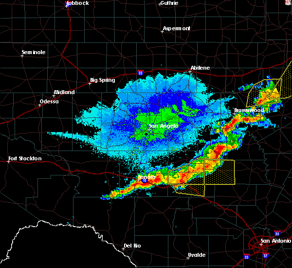 Radar Image for Severe Thunderstorms near Junction, TX at 10/21/2019 12:38 AM CDT