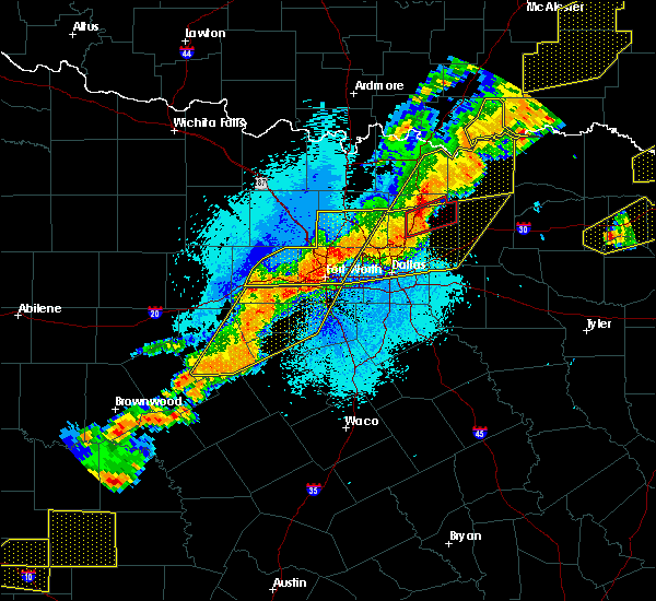 Radar Image for Severe Thunderstorms near Lucas, TX at 10/21/2019 12:42 AM CDT