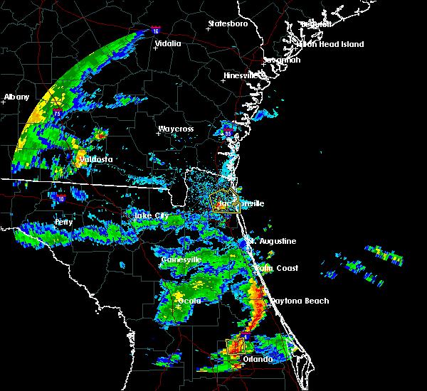 Radar Image for Severe Thunderstorms near Jacksonville, FL at 6/23/2015 6:03 PM EDT
