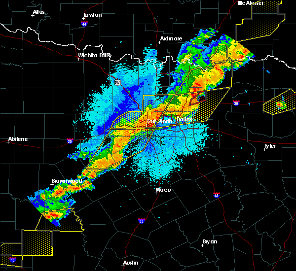 Radar Image for Severe Thunderstorms near Kennedale, TX at 10/21/2019 12:47 AM CDT