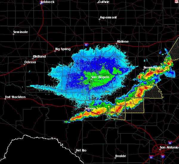Radar Image for Severe Thunderstorms near Junction, TX at 10/21/2019 12:48 AM CDT