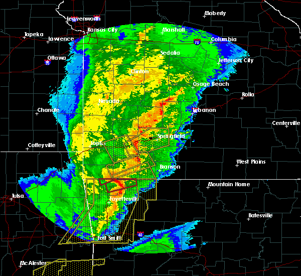 Radar Image for Severe Thunderstorms near Sparta, MO at 10/21/2019 12:51 AM CDT