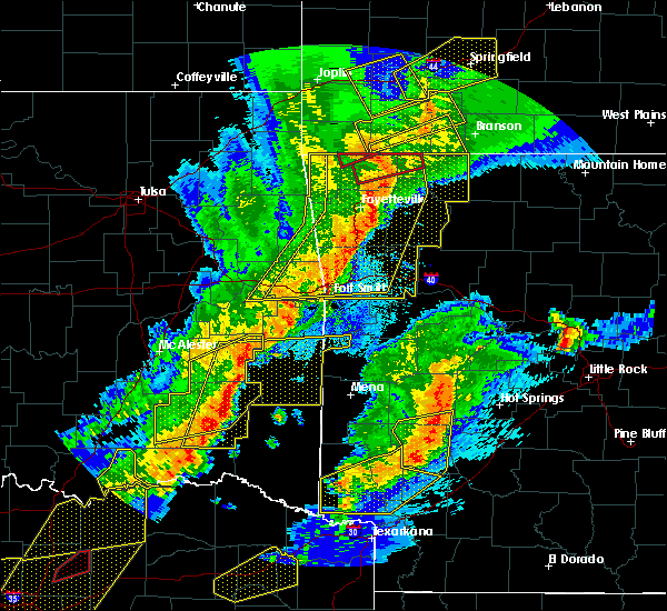 Radar Image for Severe Thunderstorms near Wright City, OK at 10/21/2019 12:55 AM CDT