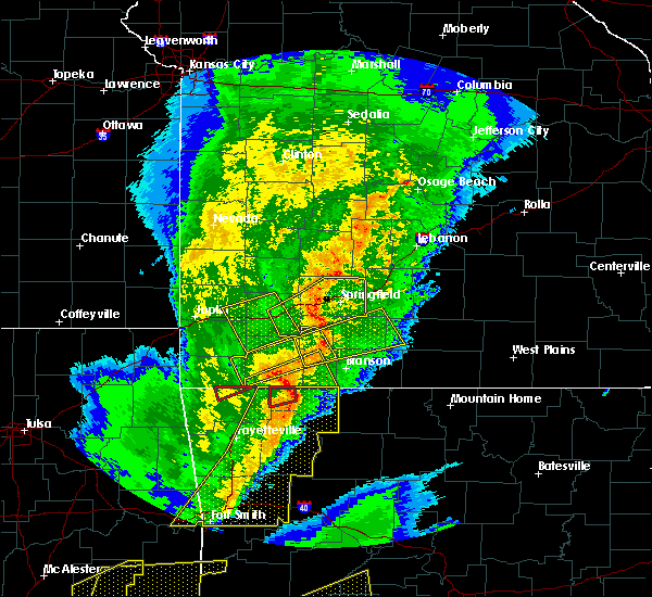 Radar Image for Severe Thunderstorms near Strafford, MO at 10/21/2019 1:02 AM CDT