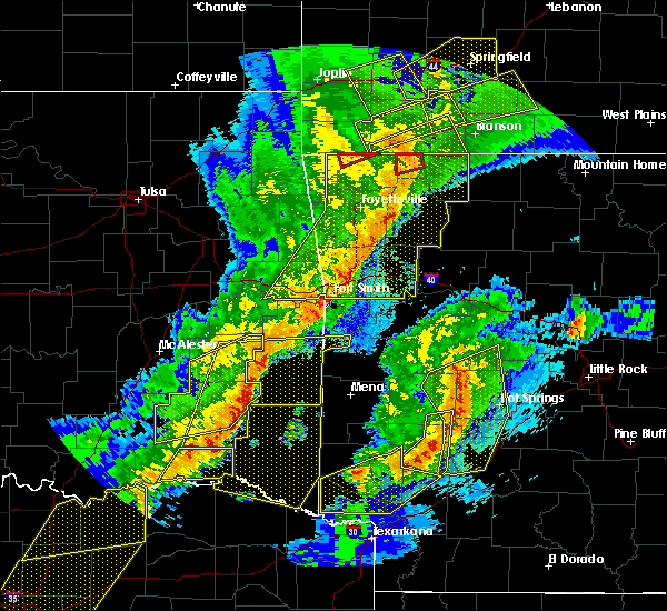 Radar Image for Severe Thunderstorms near Whitesboro, OK at 10/21/2019 1:03 AM CDT
