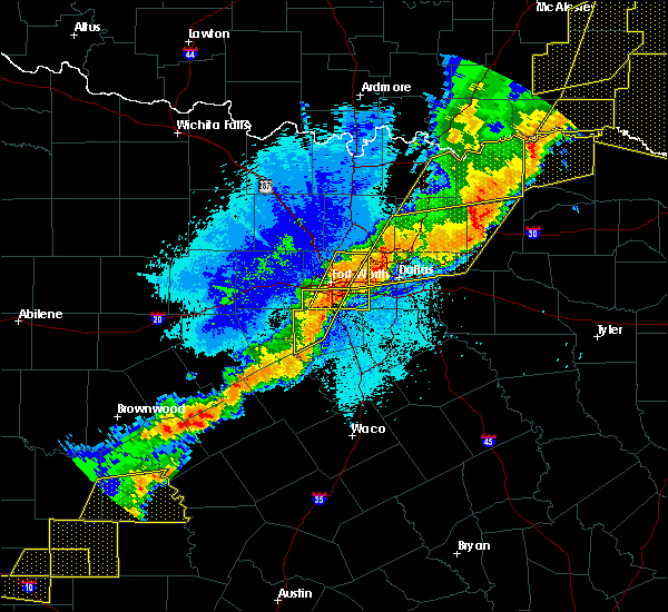 Radar Image for Severe Thunderstorms near Hamilton, TX at 10/21/2019 1:05 AM CDT