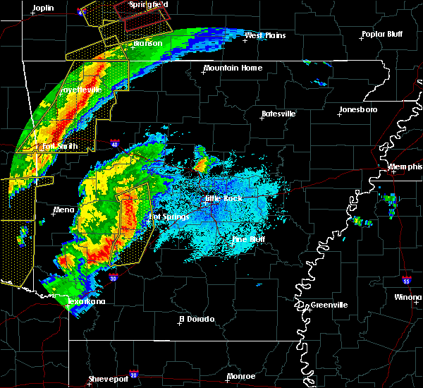 Radar Image for Severe Thunderstorms near Piney, AR at 10/21/2019 1:06 AM CDT