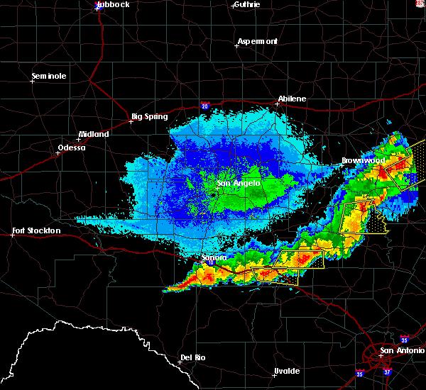 Radar Image for Severe Thunderstorms near Junction, TX at 10/21/2019 1:07 AM CDT