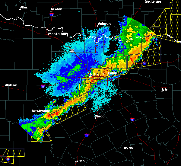 Radar Image for Severe Thunderstorms near Cleburne, TX at 10/21/2019 1:17 AM CDT