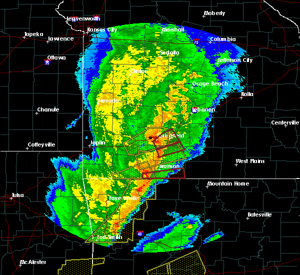 Radar Image for Severe Thunderstorms near Kimberling City, MO at 10/21/2019 1:19 AM CDT