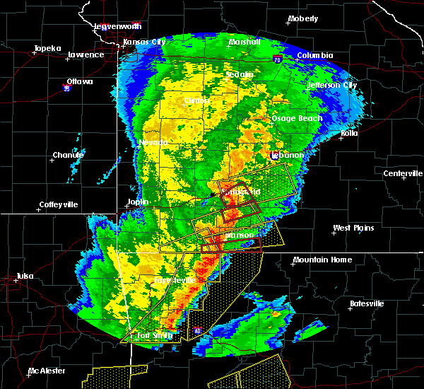 Radar Image for Severe Thunderstorms near Fordland, MO at 10/21/2019 1:26 AM CDT