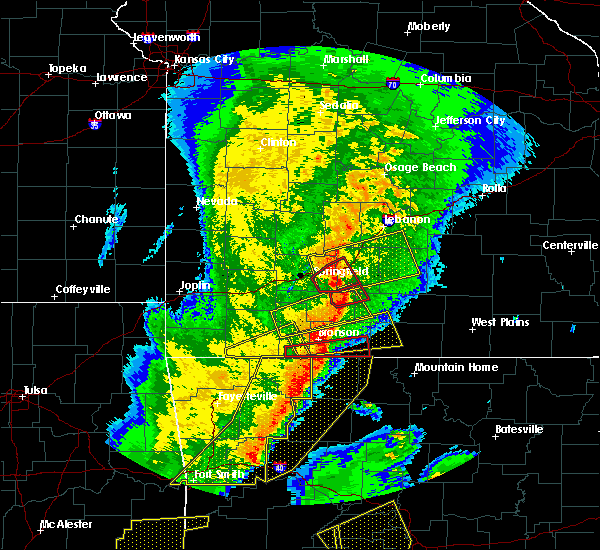 Radar Image for Severe Thunderstorms near Seymour, MO at 10/21/2019 1:28 AM CDT