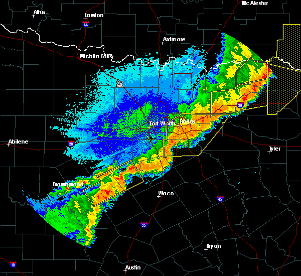 Radar Image for Severe Thunderstorms near Cooper, TX at 10/21/2019 1:42 AM CDT