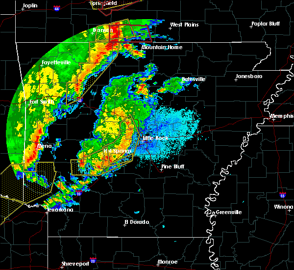 Radar Image for Severe Thunderstorms near Mountain Home, AR at 10/21/2019 1:50 AM CDT