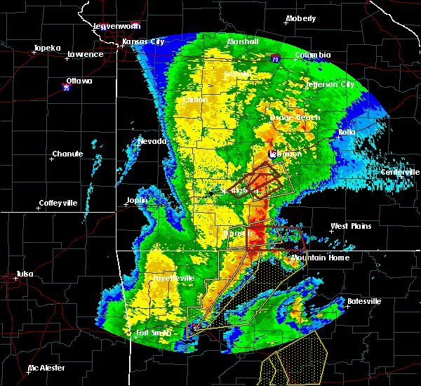 Radar Image for Severe Thunderstorms near Cabool, MO at 10/21/2019 2:04 AM CDT
