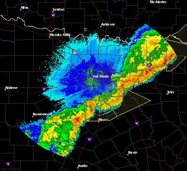 Radar Image for Severe Thunderstorms near Garrett, TX at 10/21/2019 2:07 AM CDT
