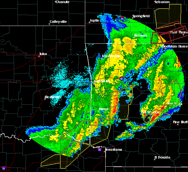 Radar Image for Severe Thunderstorms near Norman, AR at 10/21/2019 2:16 AM CDT