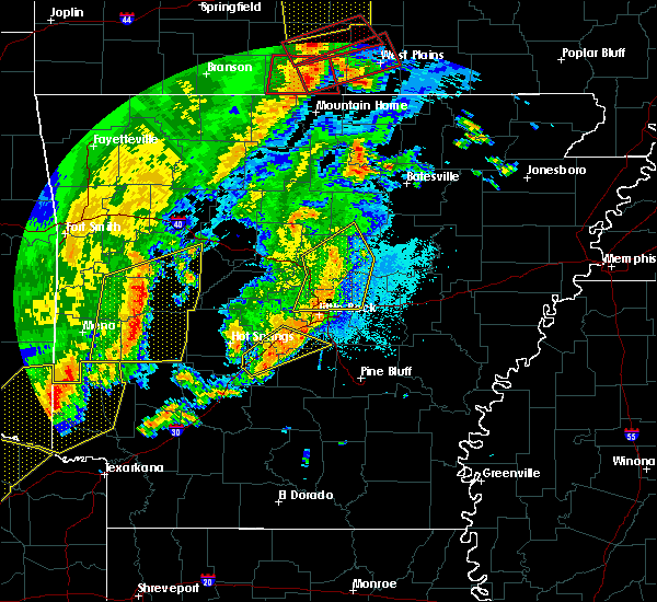 Radar Image for Severe Thunderstorms near McAlmont, AR at 10/21/2019 2:18 AM CDT