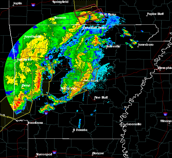 Radar Image for Severe Thunderstorms near East End, AR at 10/21/2019 2:19 AM CDT