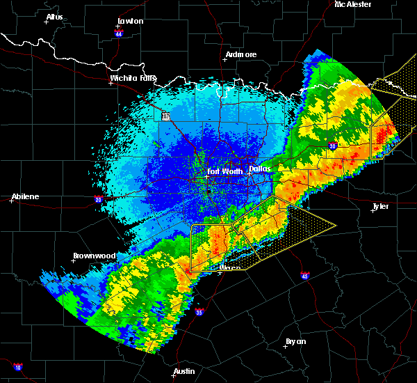 Radar Image for Severe Thunderstorms near Hillsboro, TX at 10/21/2019 2:24 AM CDT