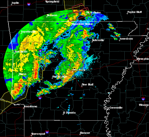 Radar Image for Severe Thunderstorms near East End, AR at 10/21/2019 2:25 AM CDT