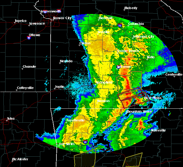 Radar Image for Severe Thunderstorms near Cabool, MO at 10/21/2019 2:25 AM CDT