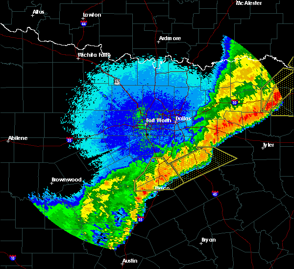 Radar Image for Severe Thunderstorms near Enchanted Oaks, TX at 10/21/2019 2:30 AM CDT