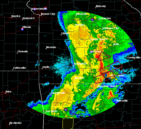 Radar Image for Severe Thunderstorms near Montier, MO at 10/21/2019 2:32 AM CDT