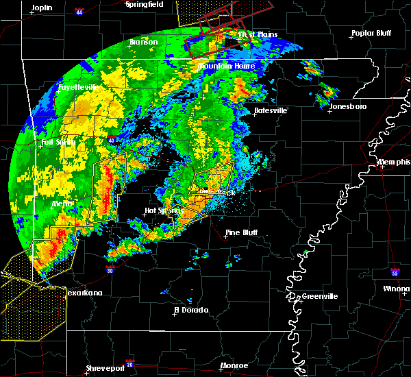 Radar Image for Severe Thunderstorms near Ola, AR at 10/21/2019 2:34 AM CDT
