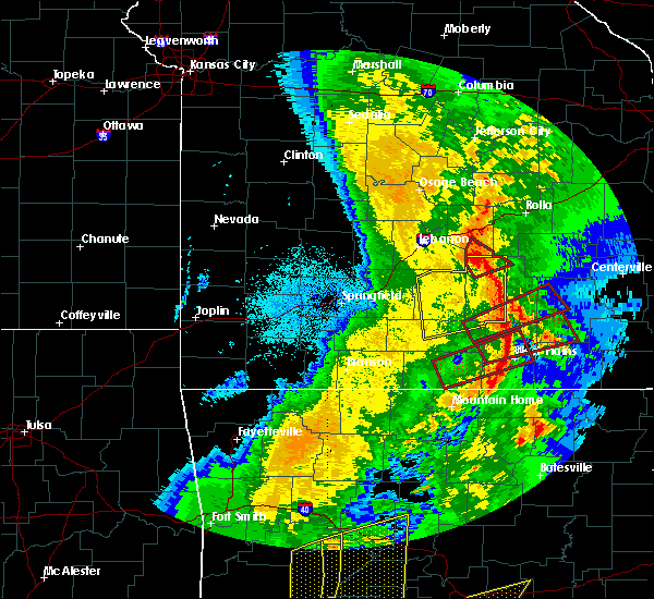 Radar Image for Severe Thunderstorms near Licking, MO at 10/21/2019 2:49 AM CDT