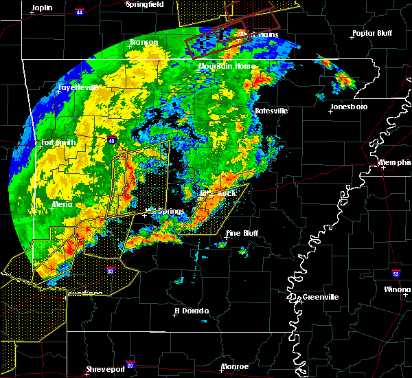 Radar Image for Severe Thunderstorms near Ola, AR at 10/21/2019 2:53 AM CDT