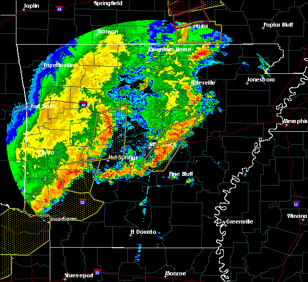 Radar Image for Severe Thunderstorms near Perryville, AR at 10/21/2019 3:00 AM CDT
